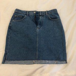 H&M - High Waisted Jean Skirt